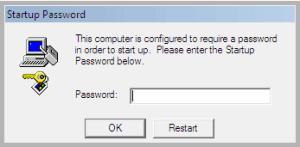 SysKey Visuel de la demande du mot de passe