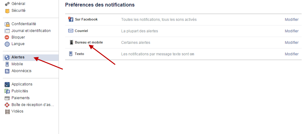 Notification Facebook 1