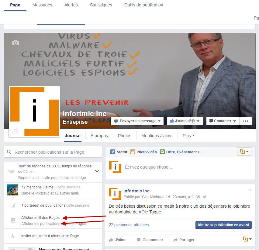 fil de nouvelles facebook