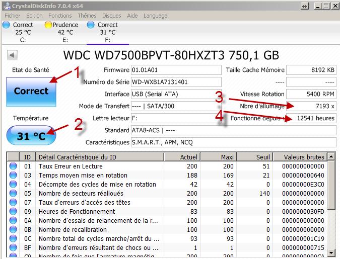 Tester disque dur